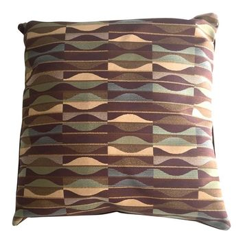 Pre-owned Mid-Century Modern Designer Fabric Pillow