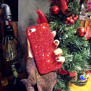 Red Sparkle Phone Case