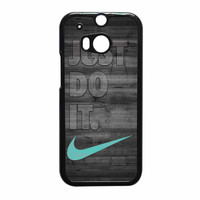 Nike Mint Just Do It Wooden Gray HTC One M8 Case