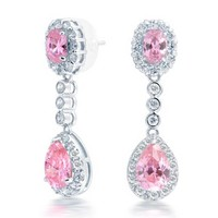 Bling Jewelry Pink Lust Earrings