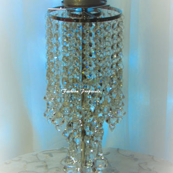 10 Wedding Crystal candelabra, candle holder, candelabra with flower vase set of 10 crystal wedding centerpieces 399.00