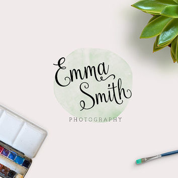 Custom Logo - Premade Logo - Logo - Business Logo - Branding Logo - Wreath Logo - Photography Logo - Calligraphy Logo- Watercolor Logo