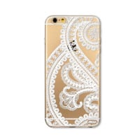 Paisley Mandala Clear iPhone Case