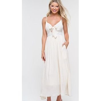 Cutout Maxi with Front Tie