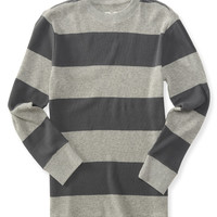 PS from Aero  Kids' Long Sleeve Bar Stripe Thermal Tee