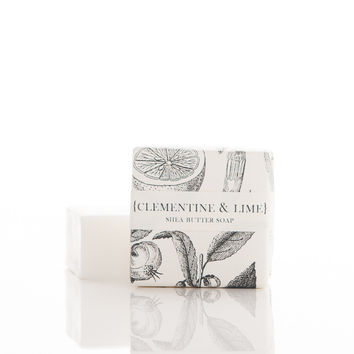 clementine & lime petite guest soap