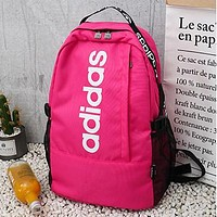 ADIDAS Fashion Women Men Canvas Sport College Shoulder Bag Travel Bag School Backpack Rose Red