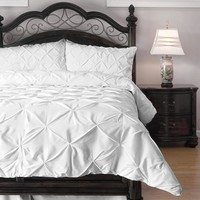 3 Piece Pinch Pleat Down Alternative Comforter Set