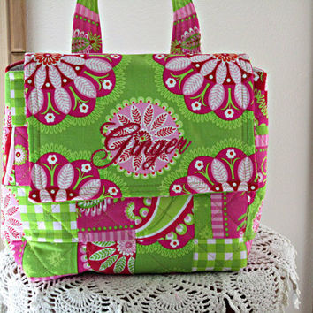 Eco Friendly Insulated Personalized Lunch Tote  Bag Made in USA