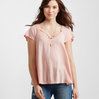 Sheer Strappy Knit Top
