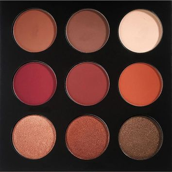 New Brand Makeup Eye Shadow Palette Shimmer Matte Eyeshadow Palette With Makeup Mirror Professional Cosmetics 9 Colors Per Set
