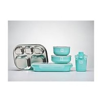 Kangovou Kids Stainless Steel Dishware Iced Mint