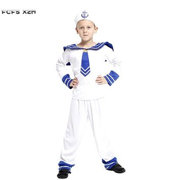 Halloween Sailor Costumes for Boys Kids Navy Cosplays Children's day Purim Carnival Christmas Masquerade Stage play party dress