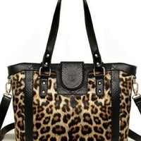 Sexy Leopard Print Leather Bags