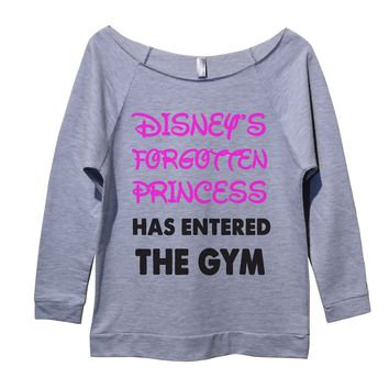 Disneys Forgotten Princess Has Entered The Gym Womens 3/4 Long Sleeve Vintage Raw Edge Shirt