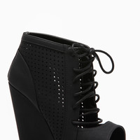 Wild Diva Black Cut Out Wedges