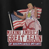 Donald Trump Making America Great Again Building walls tee t-shirt