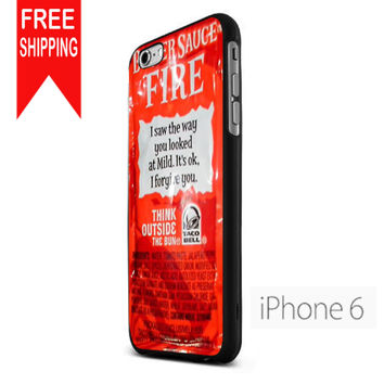 Taco Bell Sauce Fire iPhone 6 Case