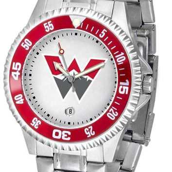Western State Colorado University Mountaineers Competitor Steel Watch
