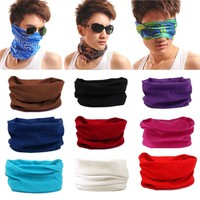 Solid Fahion New Men Headwear Bicycle Bandanas Seamless Bandanas Washouts Mask Scarf For Men Magic Headband F25