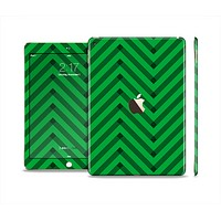 The Green & Black Sketch Chevron Skin Set for the Apple iPad Air 2