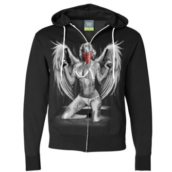 Marilyn Monroe Sexy Gangster Angel Zip-Up Hoodie