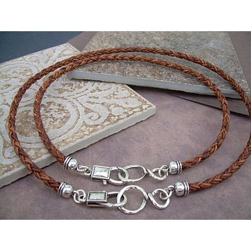 His and Hers Set of  Infinity Necklaces, Leather Necklace, Mens, Womens, Womens Necklace, Mens Necklace, Mens Jewelry, Womens Jewelry