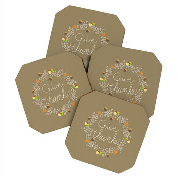 Lisa Argyropoulos Giving Thanks Coaster Set