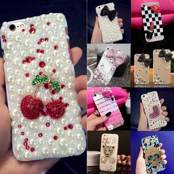 Soft Edge Acrylic mobile phone shell fashion Bling Diamond Luxury Glitter DIY Cute Case Cover For Samsung galaxy A9