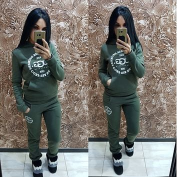 UGG Casual Hoodie Top Sweater Pants Trousers Set Adidas Two-piece Sportswear