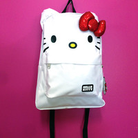 Loungefly – Hello Kitty Sequin Bow Backpack In White/Multi | Thirteen Vintage
