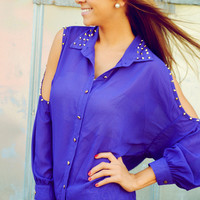 A Night Of City Life Blouse: Purple | Hope's