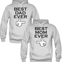 best dad ever and best mom ever Hoodies