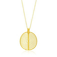 Concentric Textured Circle Pendant