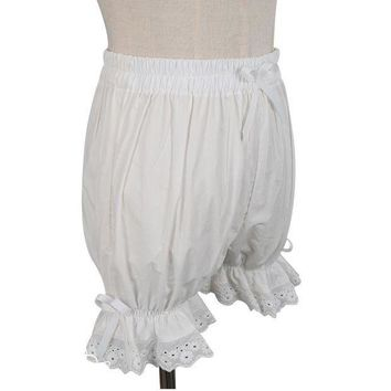 ESBON Sweet Cotton Lolita Shorts/Bloomers with Lace Trimming