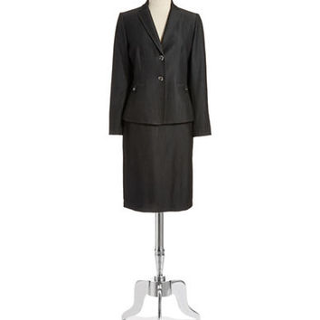 Tahari Arthur S. Levine Heathered Two Piece Suit