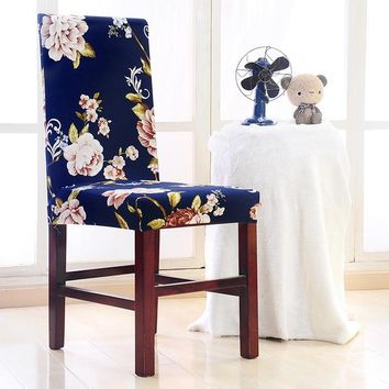 Spandex Floral Slipcover Dining Chair Cover Removable Modern Minimalist Anti-dirty Stretch Washable Banquet Wedding Seat Case