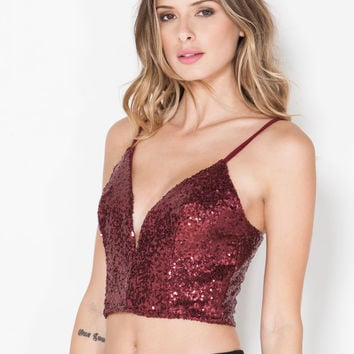 Party Girl Sequin Crop Top GoJane.com