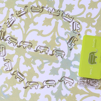 circus line elephant paper clips - $9.99 : ShopRuche.com, Vintage Inspired Clothing, Affordable Clothes, Eco friendly Fashion