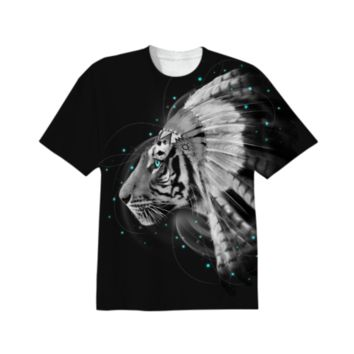 Don't Define Your World In Black & White (Chief of Dreams:) Tiger Unisex T-Shirt created by soaringanchordesigns | Print All Over Me