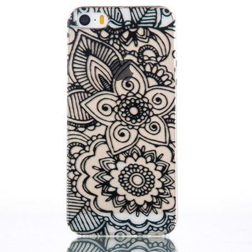Floral iPhone 5s 6 6s Plus Case Cover + Free Gift Box-170928