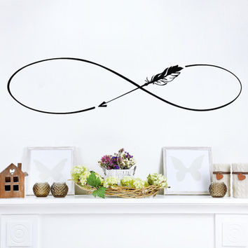 Infinity Symbol Wall Decals Boho Arrow Vinyl Stickers Bedroom Bohemian Bedding Decal Home Bedroom Decor T139