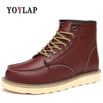Brand Fashion Ankle Boots Autumn winter men's Motorcycle Doc Dr Martin Boots men Oxfords men Shoes plus size Dr. Martens Boots