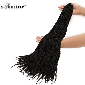 SNOILITE Golden Beauty 24inch Box Braid Hair Extensions Synthetic Ombre Burgundy Crochet Braids(US Fast Ship)