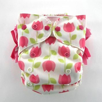 Tulips OS All-in-One (AiO) Natural Fiber Cloth Diaper
