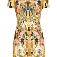 Alexander McQueen Printed cady dress – 65% at THE OUTNET.COM