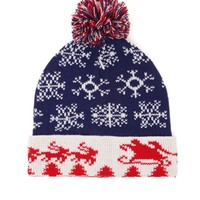 On The Byas Americana Santa Beanie - Mens Hats - Red/White/Blue - One