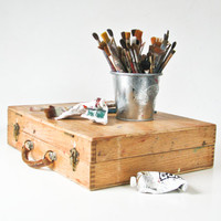 Artist Paint Box - Travel Art Box - Canvas Paint Carrier