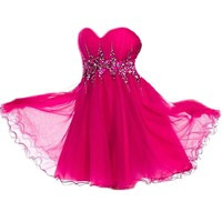 VILAVI A-line Sweetheart Short Tulle Crystal Graduation Dresses