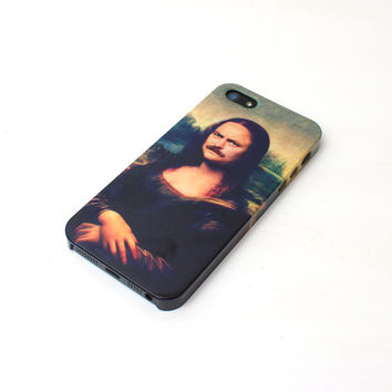 Monaron Ron Swanson Mona Lisa iPhone Case For - iPhone 4 Case - iPhone 5 Case - iPhone 5C Case - Samsung S3 - Samsung S4